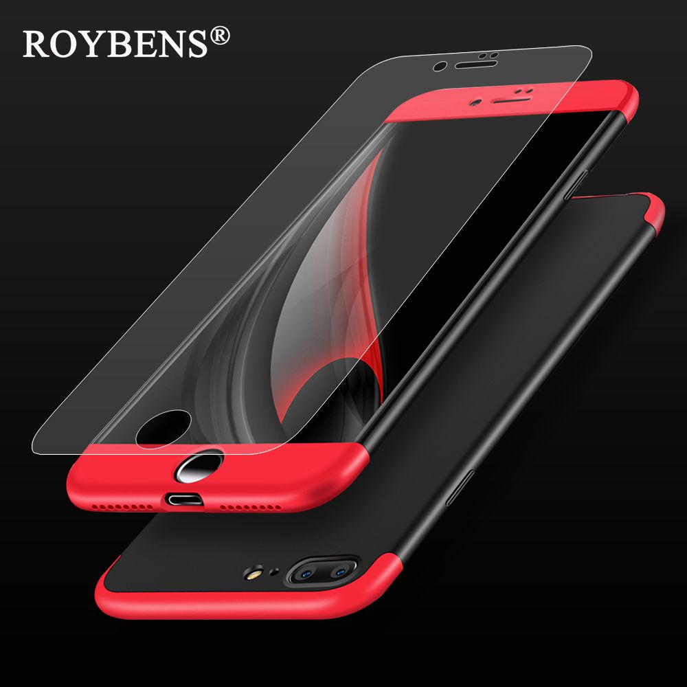 best service 8adb9 35ff4 Roybens For iPhone 6 Case For iPhone 7 6S Plus Luxury 3 in 1 Full ...