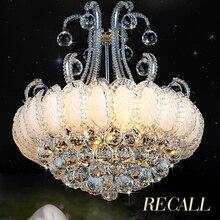 Silver Gold Crystal Chandelier Lighting Fixture Modern Chandeliers Lights Lustres Lamps European Home Indoor AC90V-260V