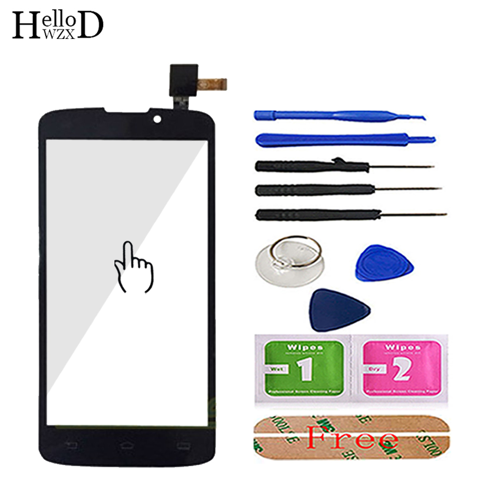 5.0'' Mobile Phone Touch Screen TouchScreen For <font><b>Philips</b></font> <font><b>V387</b></font> 387 Touch Glass Front Glass Digitizer Panel Lens Sensor 3M Glue image