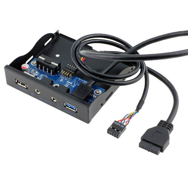 3,5 floppy Bay Diy 20pin Usb 3.0 Hub Hd Audio 3,5mm Kopfhörer Jack Mic Datenkabel Zubehör Und Ersatzteile 2.1a Schnellladung Schnittstelle Pc Frontplatte Halterung Montieren