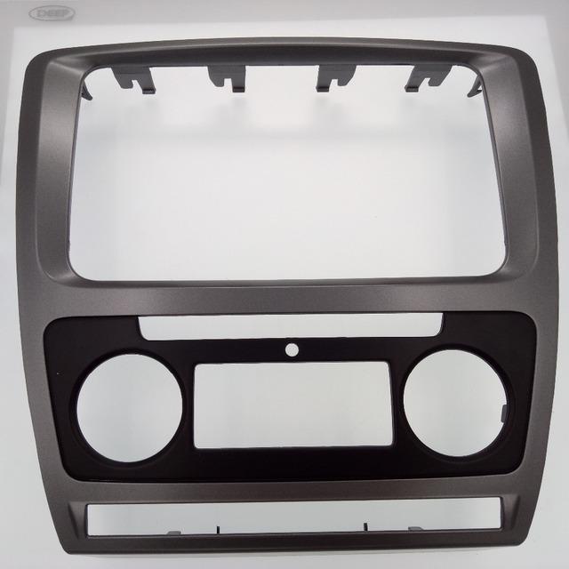Carro-capas de Carro Remontagem quadro DVD, painel de DVD, Kit Dash, painel DVD Fáscia, Áudio quadro Para Skoda Octavia (2010 ~ 2013) Auto A/C