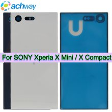 NEW Back Cover For Sony Xperia X Mini Back Battery Cover Door Rear Panel Glass Case Plate F5321 Body For SONY X Compact Housing(China)