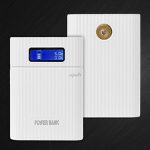 Anti-Reverse DIY Power Bank Box 4x 18650 Battery LCD Display Dual USB Charger For iphone Sm