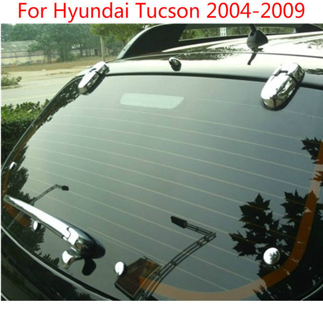 ABS Chrome Rear Window Wiper Nozzle Cover Trim 12pcs For Hyundai Tucson 2004 2005 2006 2007 2008 2009 ,car styling  Car-covers