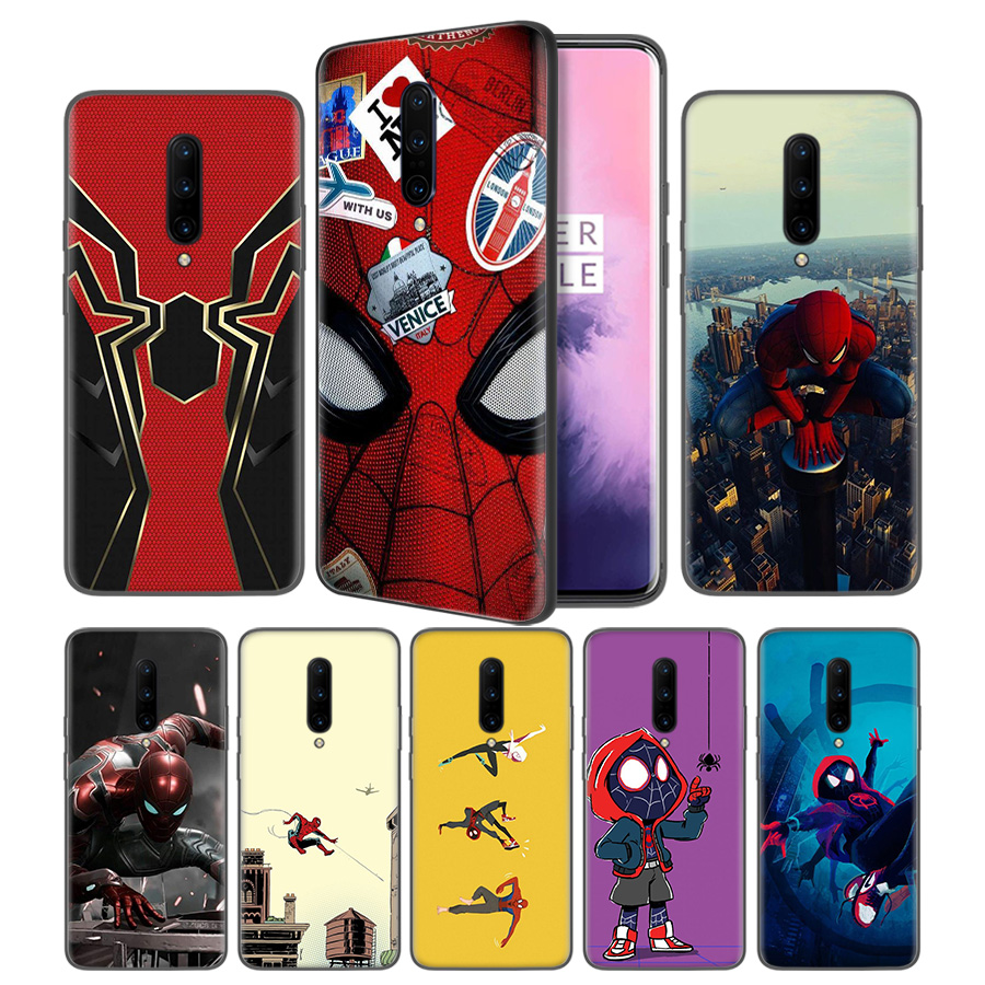 Spider Man Far From Home Poster Black Silicone Case Cover for font b OnePlus b font