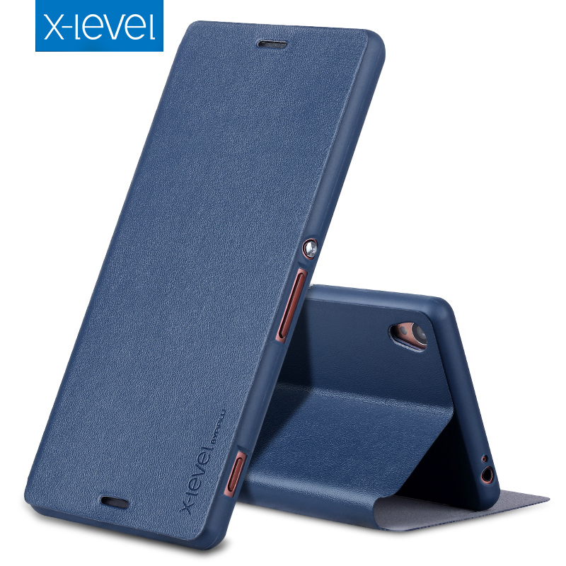 X-Level Case For Coque D6603 Sony Xperia Stand-Cover Business-Style Z3 Luxury