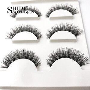 Image 3 - SHIDISHANGPIN 3d норковые ресницы ручной работы макияж Накладные ресницы натуральные длинные ресницы для наращивания Искусственные ресницы X08