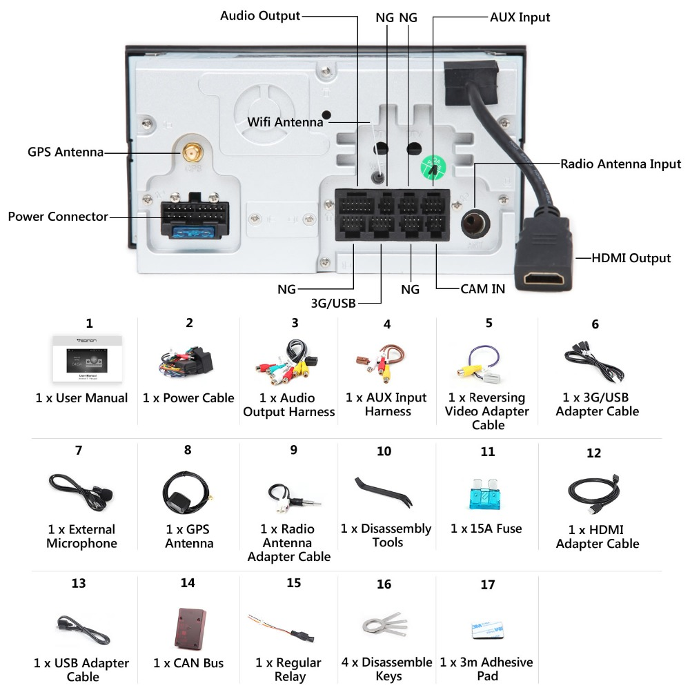 Eonon Wiring Diagram from ae01.alicdn.com