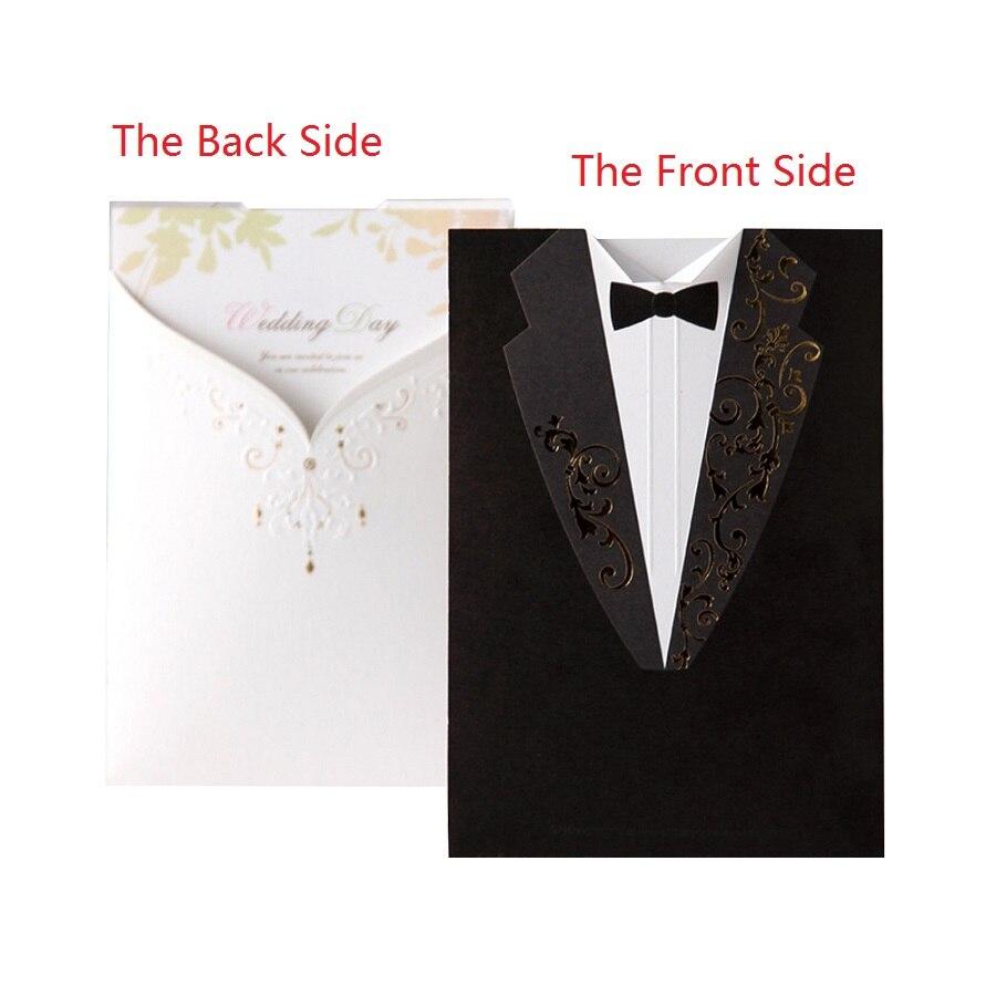 10pcs/lot Handmade Groom Bridal White and Black Wedding ...