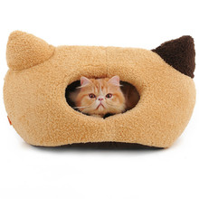 Brown Most Lovely Waterproof Pet House Cat Ear Bed for Pet Cat Cave Bed Cushion