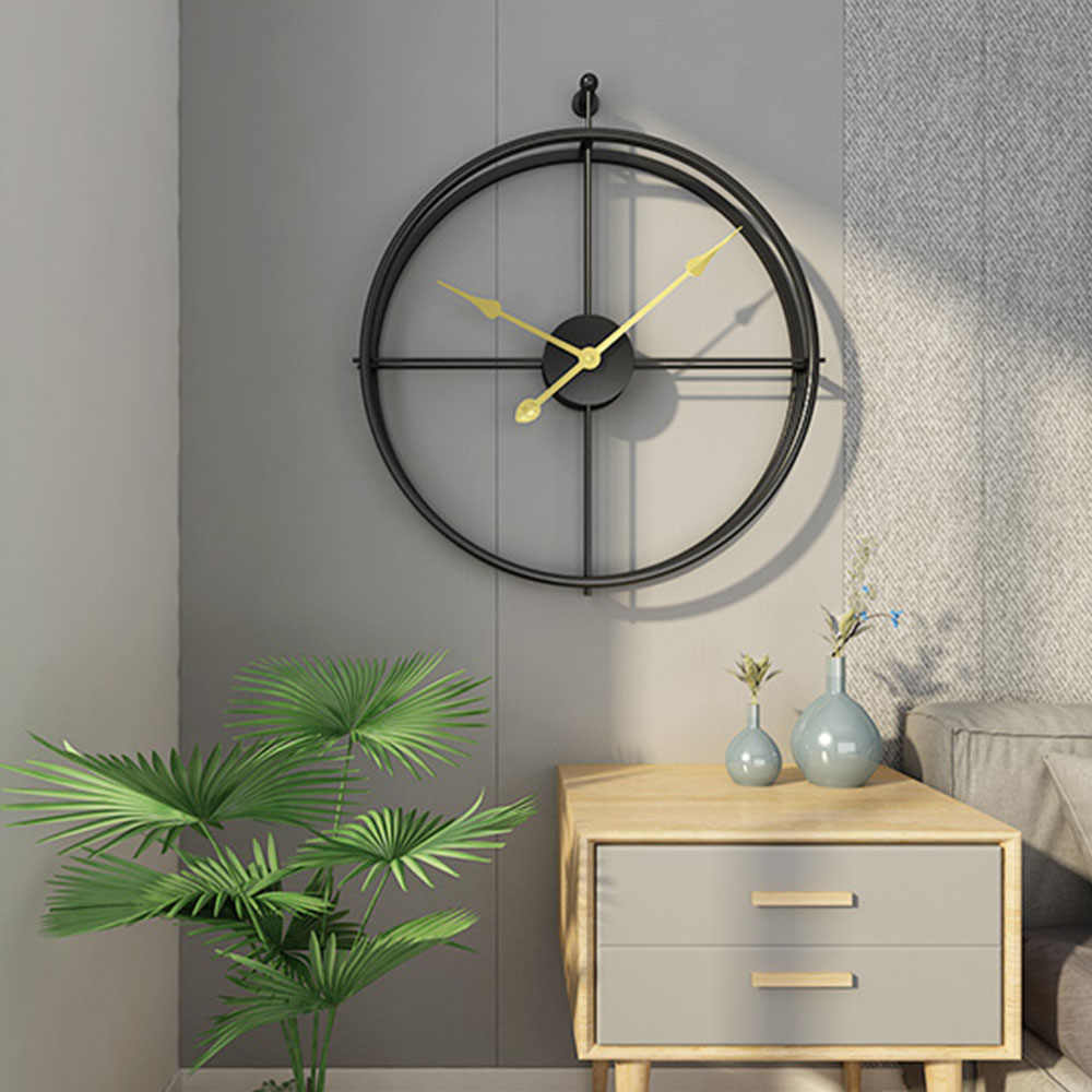 Horloge De Bureau Originale grande brève horloge murale silencieuse de style européen design moderne  pour la maison bureau décoratif suspendu horloge murale horloges cadeau  chaud