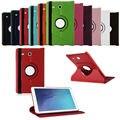 Nueva marca de lujo 360 de rotación flip case cubierta elegante de cuero de la pu tablet case para samsung galaxy tab e t560 case 10 colores elección