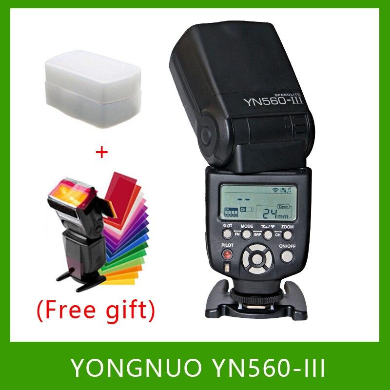 YongNuo YN560-III YN560III Flash Speedlite lampe de poche pour Canon Nikon Pentax Olympus Panasonic appareil photo reflex numérique mise à niveau de YN560 II