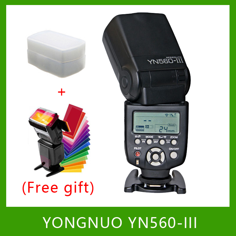 YongNuo YN560-III YN560III Flash Speedlite Flashlight for Canon Nikon Pentax Olympus Panasonic DSLR Camera Upgrade Of YN560 II 2 pcs yongnuo yn560 iii yn560iii flash speedlite flashlight for canon nikon