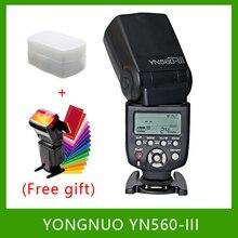 YongNuo YN560 III YN560III แฟลช Speedlite ไฟฉายสำหรับ Canon Nikon Pentax Olympus Panasonic DSLR อัพเกรด YN560 II