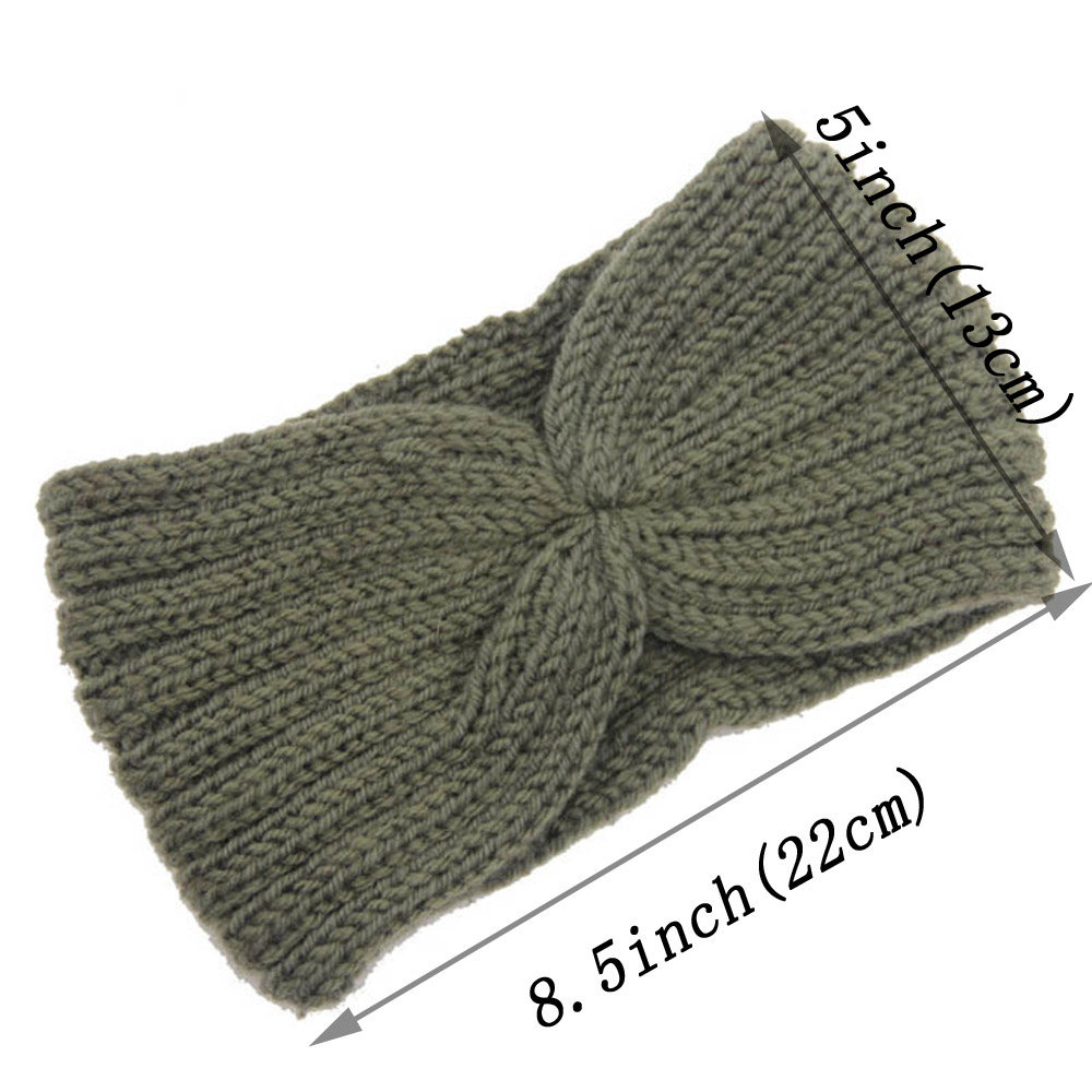 8805818dd609 Γυναίκες   s αξεσουάρ για τα μαλλιά Winter Knitted Twist Headband For Women  Girls Warmer Ear Wool Turban Hairband Headwrap Bandage Hair Accessories  Hairband ...