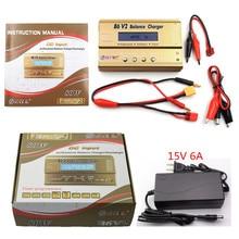HTRC батарея Lipro баланс зарядное устройство iMAX B6 V2 Зарядное устройство Imax b6 источник питания Lipro Цифровой баланс зарядное устройство+ 15 В 6A адаптер питания