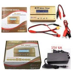 HTRC Batterij Lipro Balans Lader iMAX B6 V2 charger Imax b6 Voeding Lipro Digital Balance Charger + 15 v 6A Power Adapter