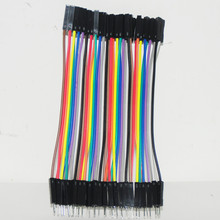 40pcs Dupont Wire Jumper For Raspberry Male TO Female Dupont Cable 10cm Cable Jumpers 2.54MM Female to Male Wire Dupont  KIT