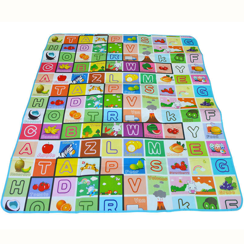 HTB1SAgea2WG3KVjSZFgq6zTspXai Double Side Baby Play Mat 0.5cm Eva Foam Developing Mat for Children's Rug Carpet Kids Toys Gym Game Crawling Gym Playmat Gift