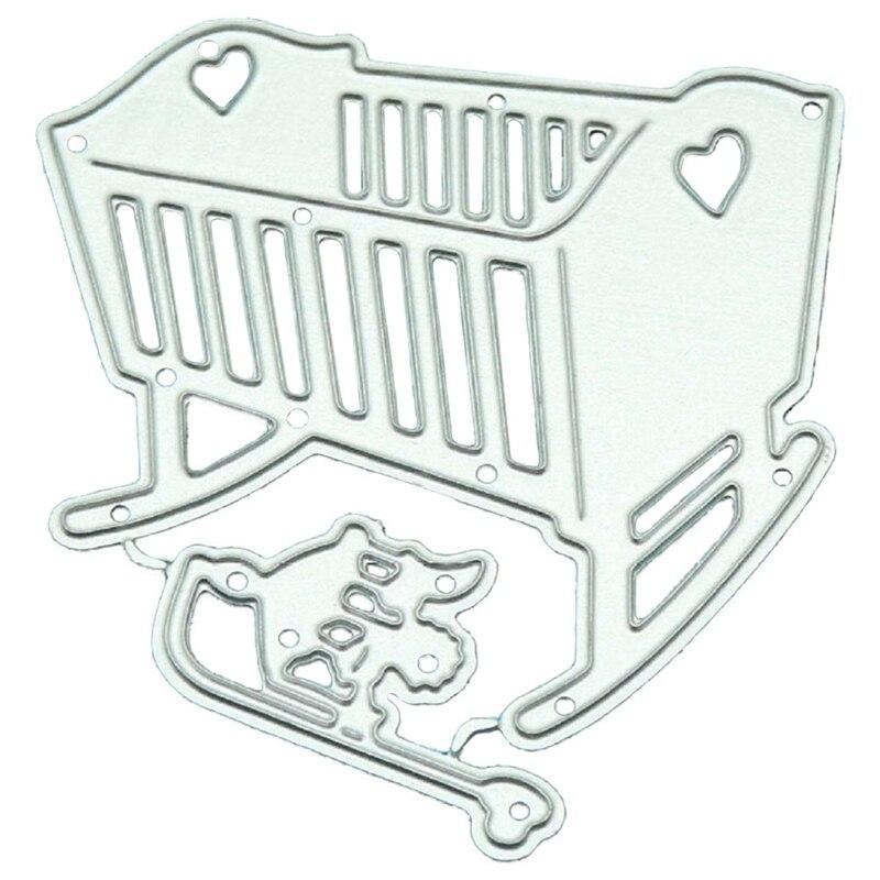 Cute Dies Scrapbooking Sweet Baby Crib Metal Cutting Dies DIY New ... e8ba40d601fe