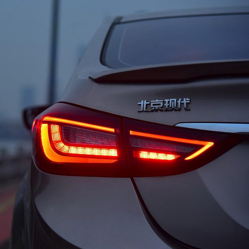 Estilo del coche para la luz trasera del coche para Elantra LED luz trasera 2011 2016 para Elantra luz trasera señal de giro con secuenciales indicador