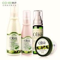 Marka 4 sztuk zestaw do pielęgnacji skóry twarzy zestaw olive oil wyciąg facial mask + toner + balsam + korektor krem wybielanie nawilżający zmniejszyć pory