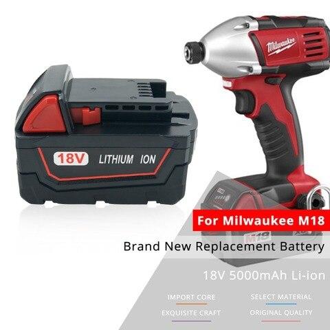 Bateria da Ferramenta Elétrica do Lítio de 18 5.0ah para Milwaukee 48-59-1850 C18b Li18 v M18 xc 48-11-1850 48-11-1852
