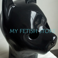 (DM108)Top quality DM 100% natural full head latex dog mask rubber hood suffocate feitsh Mask fetish wear