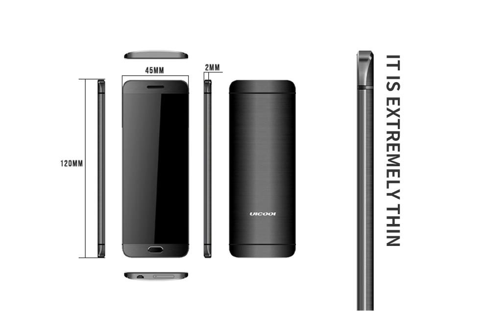 Ультратонкая Кредитная карта Ulcool V26, мобильный телефон, сенсорный дисплей, металлический корпус, Bluetooth 2,0, номеронабор, Mp3, FM, две sim-карты, мини мобильный телефон P001