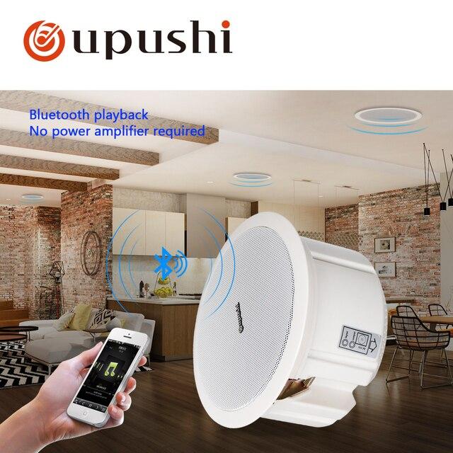 Altavoz Bluetooth Oupushi V 110 V ABS altavoz de pared activo PA sistema de sonido 6,5 pulgadas altavoz de techo Bluetooth 20 W para música casera