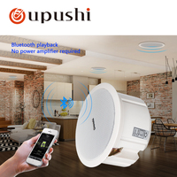 Oupushi Bluetooth Speaker 110V ABS Active Wall Speaker PA Sound System 6.5 Inch Ceiling Speaker Bluetooth 20W For Home Music