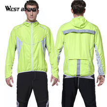 WEST BIKING Cycling Windcoat Bicycle Jersey Outdoor Sports Bike Clothing Running Full Sleeve Jacket Windproof Waterproof Clothes