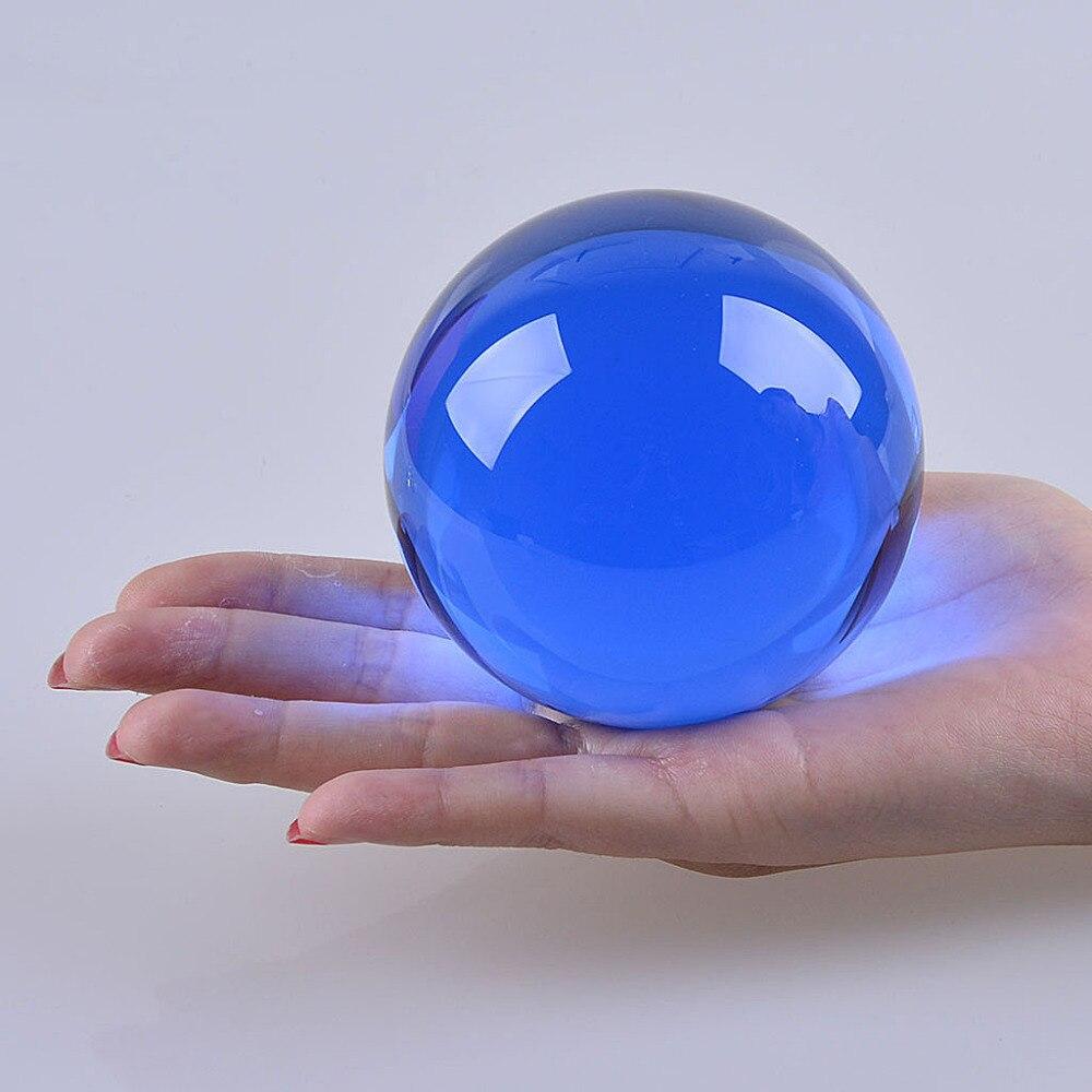 Loď z USA 80 mm vzácné modré asijské křemen Feng Shui koule křišťálová koule koule koule stolní výzdoba hodně štěstí míč doprava zdarma