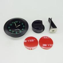 Luminous Auto Gauge Clock Mini Car Air Vent Quartz Clock with clip Auto air outlet Watch Car styling for Audi 100 200 80 Quattro