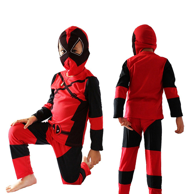 boy deadpool cosplay costume halloween costume kids role play party cosplay costume t shirt