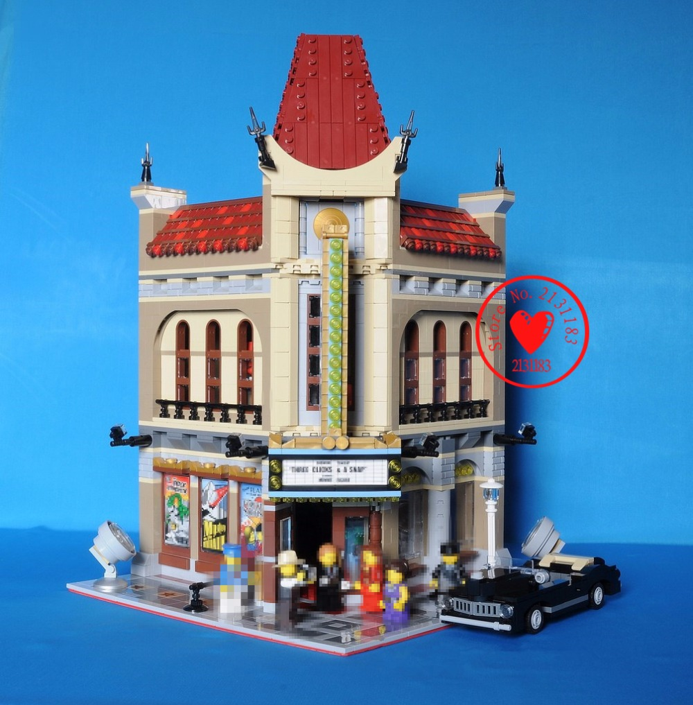 15006 2354pcs creator city street Palace Cinema lepin Model Building Blocks set Bricks Toys Compatible 10232 kid gift set 2016 new lepin 15006 2354pcs creator palace cinema model building blocks set bricks toys compatible 10232 brickgift