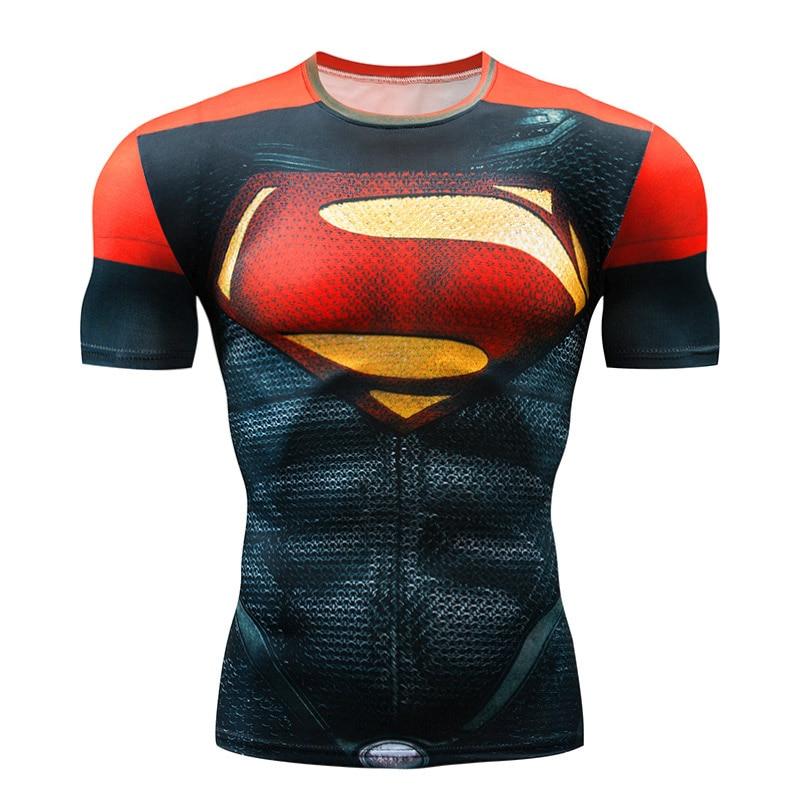Running-Shirt Punisher Fitness Superman Short-Sleeve Rashgard NEW Men