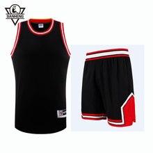 2016 S 4XL Brand SANHENG Mens Throwback Basketball Jersey Set 309AB