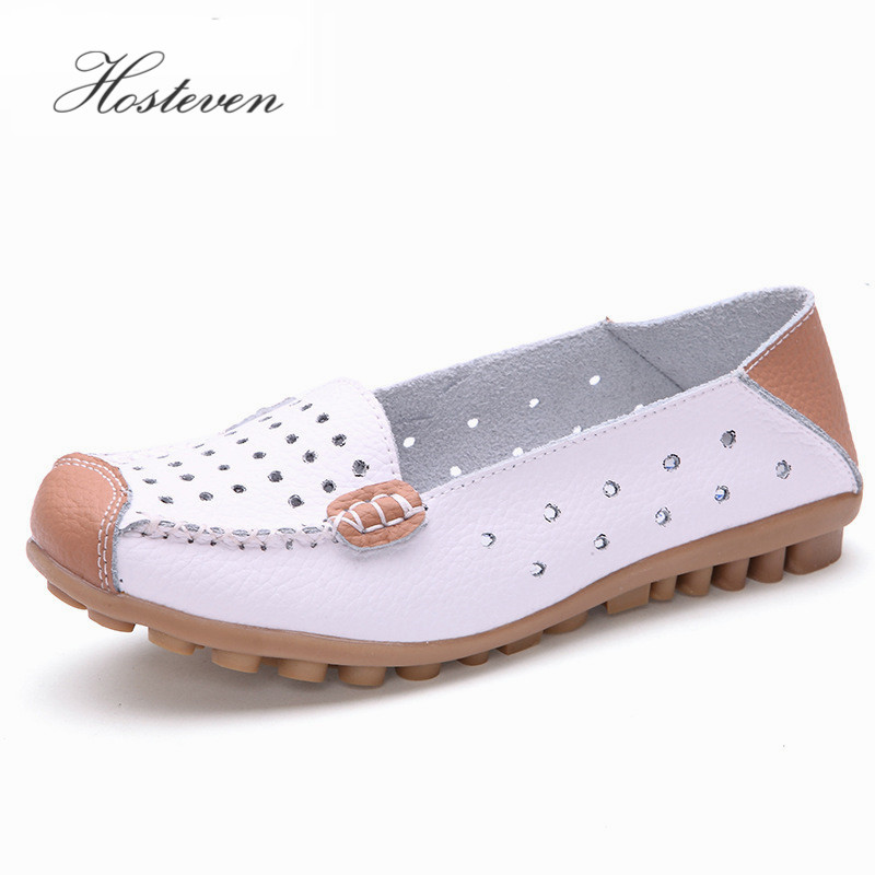 New Women Leather Women's Shoes Moccasins Mother Loafers Driving Soft Leisure Flats Female Ladies Ballet Casual Footwear split leather dot men casual shoes moccasins soft bottom brand designer footwear flats loafers comfortable driving shoes rmc 395