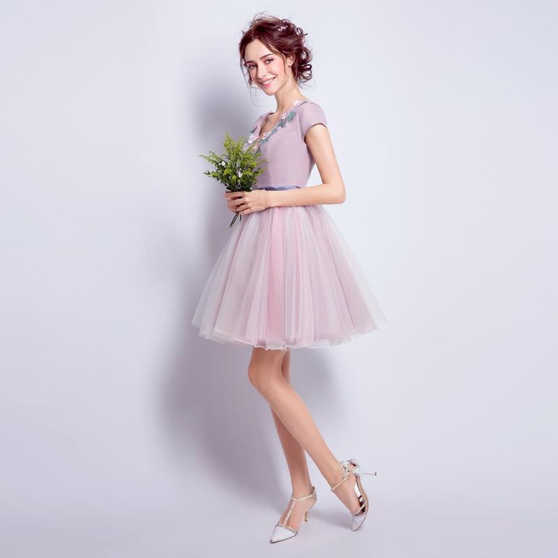 Erfreut Kurzes Rosa Kleid Brautjungfer Fotos - Brautkleider Ideen ...
