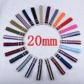 Correa 1 UNIDS Nylon Otan Correa de Reloj 20mm Venda de Reloj Resistente Al Agua Correa de Reloj durante horas-103 Multicolor colores En la Acción