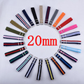Watchband 1PCS Nylon Nato Watch Strap 20mm Watch Band Waterproof Watch Strap on for hours- 103 Multicolor Colors In Stock