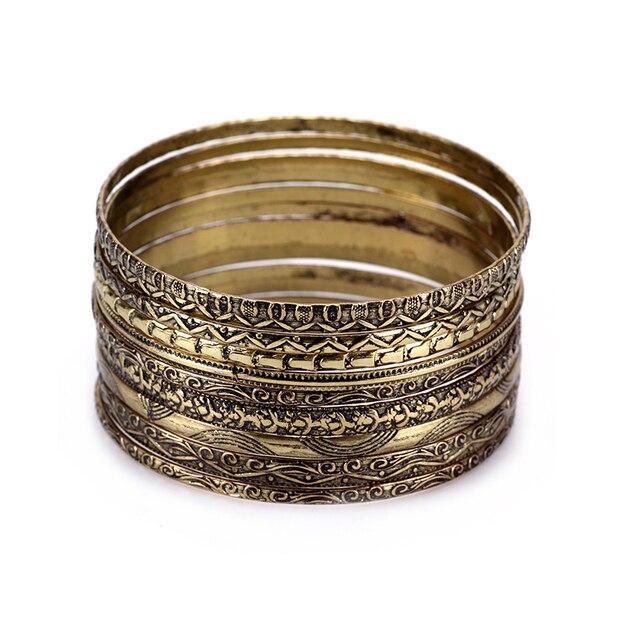 Set Vintage Indian Bangles Sets Silver