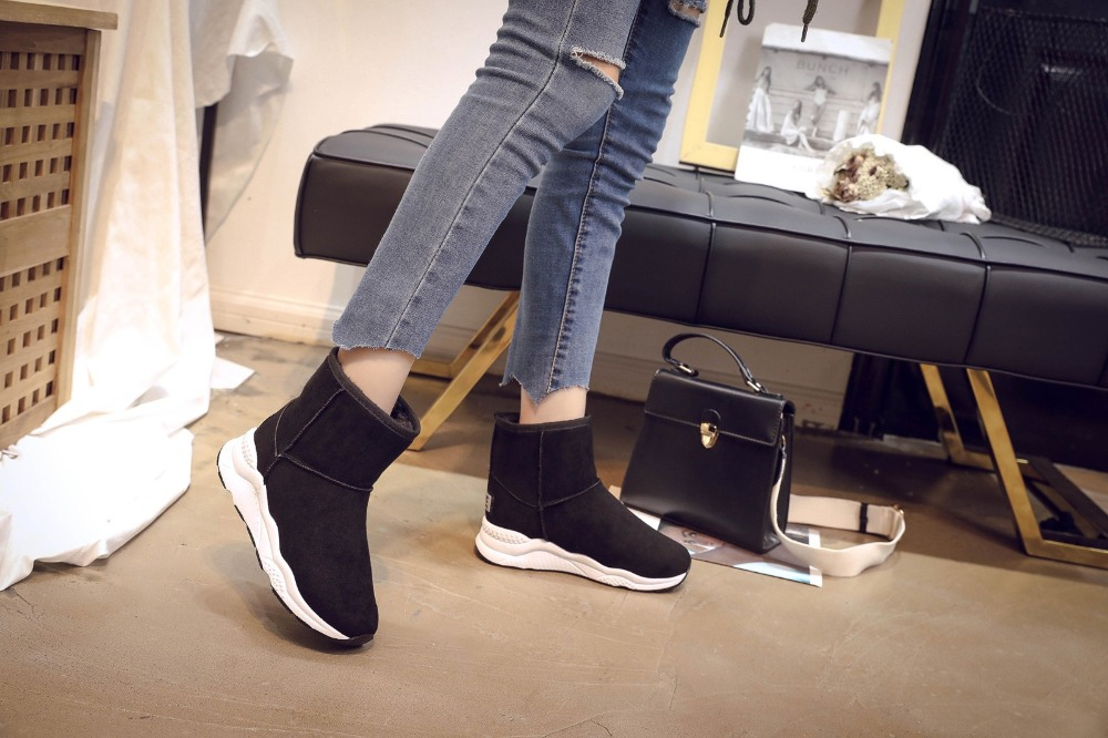Winter Snow Boots Women Casual Shoes Slip On Warm Plush Women Ankle Boots Flat Heel Sport Ladies Shoes Booties Botas Mujer XZ82 (10)