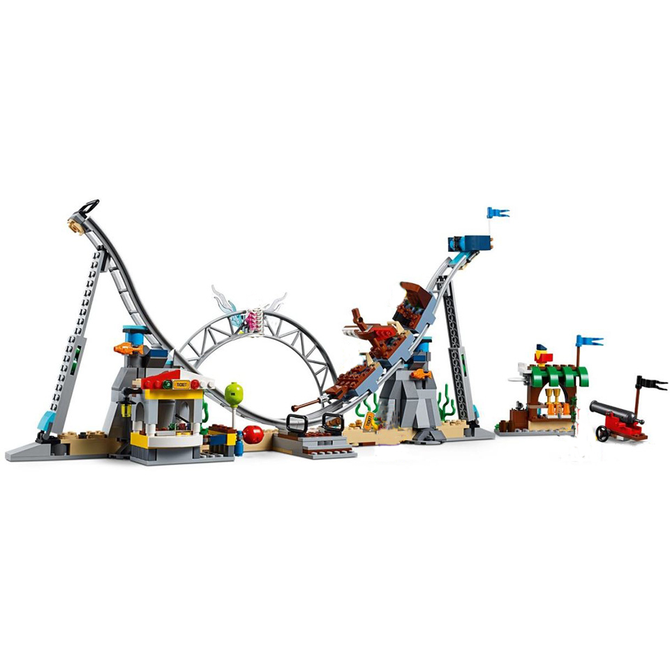 Image 2 - New Creators Builerds Set Pirate Roller Coaster 3 in 1 Compatible Legoing Creator 31084 Building Educational Toy Christmas Gifts-in Blocks from Toys & Hobbies