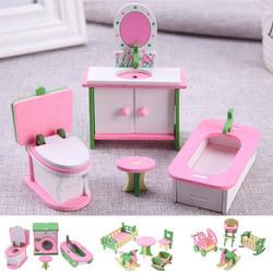 Моделирование Деревянные маленькие мебель игрушки кукольный домик деревянная мебель куклы Детская комната для детская игрушка мебель для
