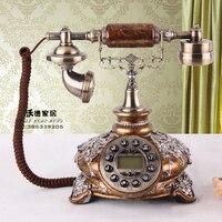 New European style retro antique landline are Korean garden wedding process telephone Decoration home art rustic phone Redial