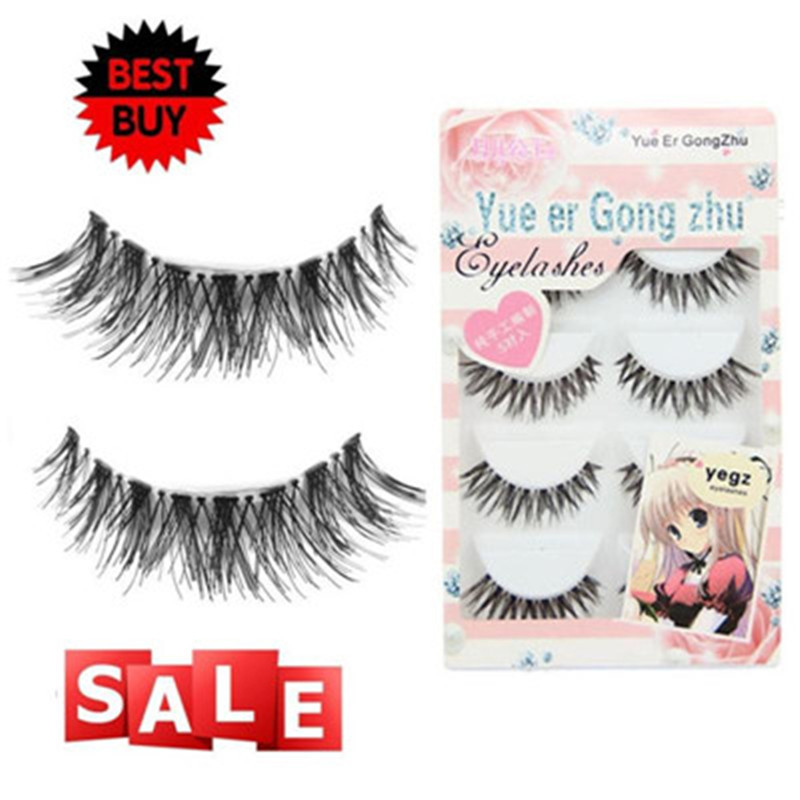 Crisscross False Eyelashes Synthetic fibe 5 Pair/Lot Eyelashes Handmade Thick Black False Eyelashes Voluminous eye lashes 2018