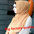 Annda marca atacado neat costura 40 cores bolha das mulheres xales lenço de chiffon muçulmano hijab caps coberturas de cabeça